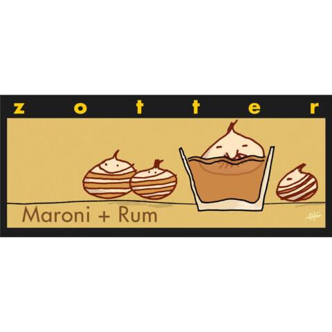 Zotter Maroni und Rum Schokolade